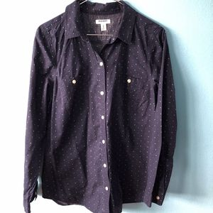 Old Navy Cotton Polka-Dot Button Up